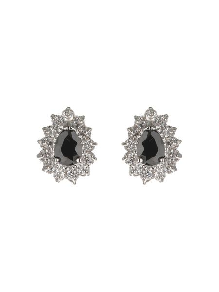 Mikey Oval Cubic Marqise Stud Earring