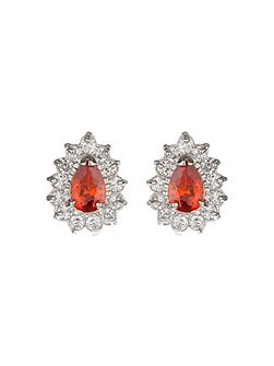 Oval Cubic Marqise Stud Earring