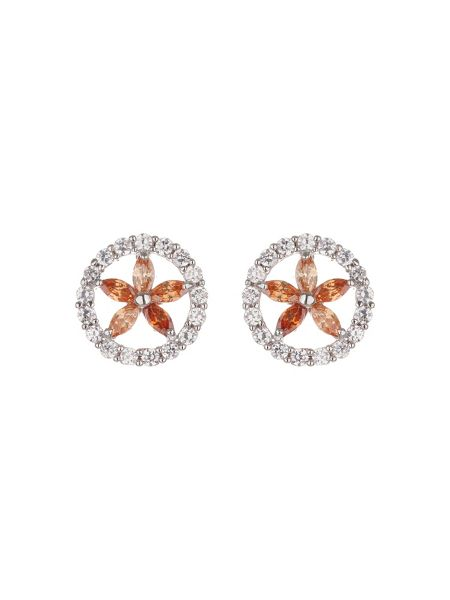 Mikey Cubic Circle Star Stud Earring
