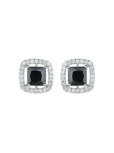 Mikey Square Cubic Marqise Stud Earring