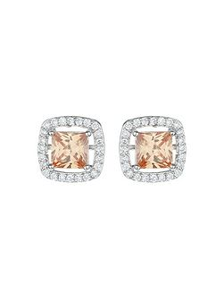 Square Cubic Marqise Stud Earring