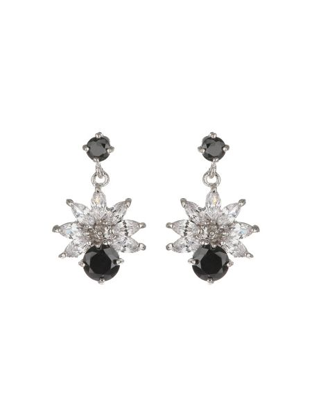 Mikey Cubic Drop Flower Stud Earring
