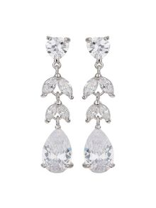 Mikey Cubic Flowers Drop Earring