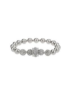 Cubic crystal ring ball elastic bracelet