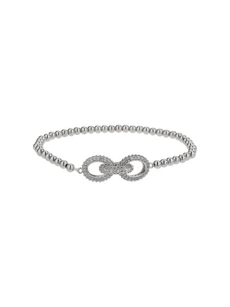 Mikey Cubic triple crystal ring bracelet