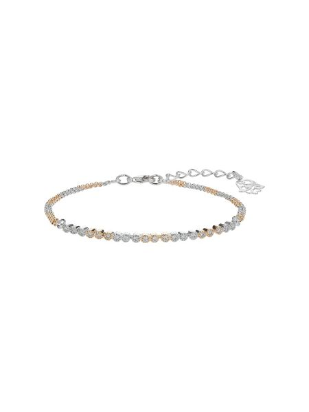 Mikey Round crystal linked bracelet