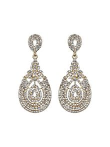 Mikey Eclipse filigree crystal earring