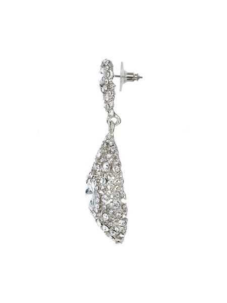Mikey Oval filligree crystal centre earring