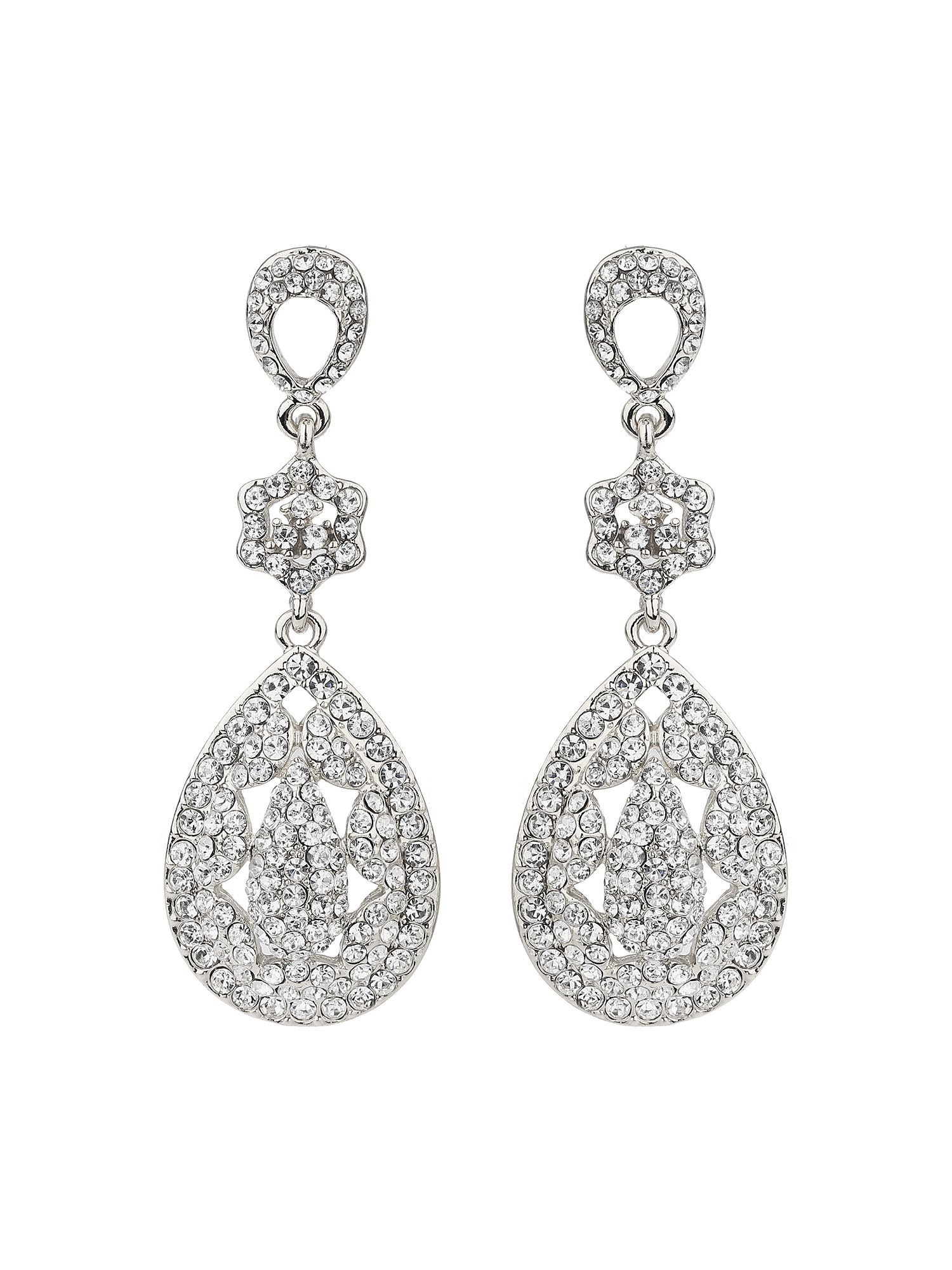 mikey eclipse filligree long drop earring