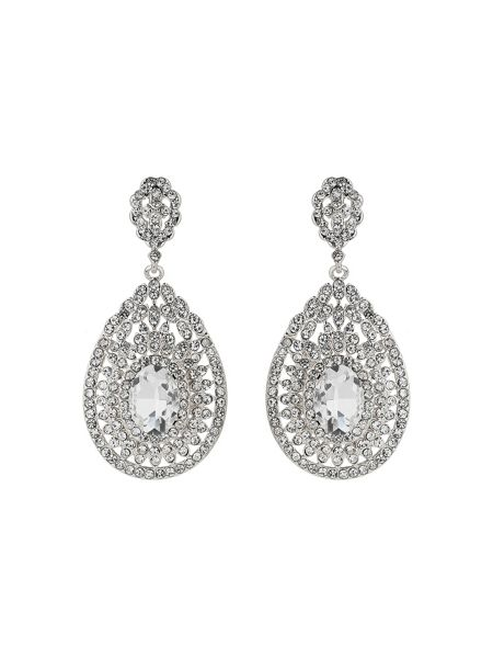 Mikey Eclipse filligree crystal stone earring