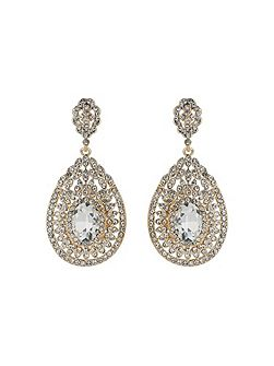 Eclipse filligree crystal stone earring