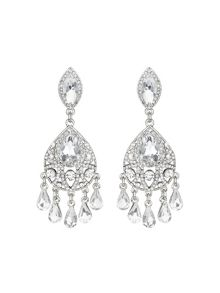 Mikey Dual crystal drop earring