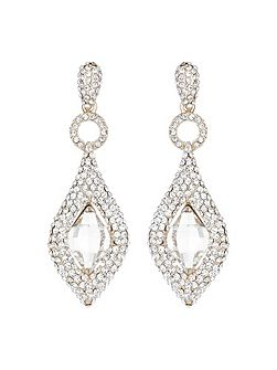 Marquise oval centre stone earring