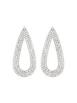 Flat eclipse marquise earring