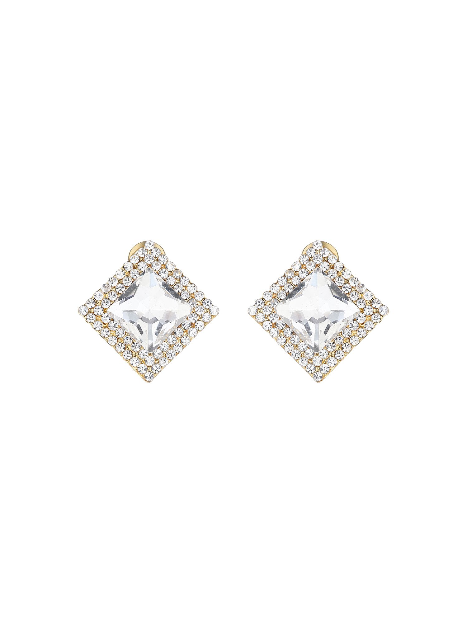 mikey square stone marquise earring
