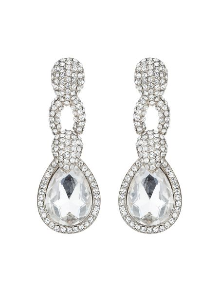 Mikey Triple link marquise stone earring