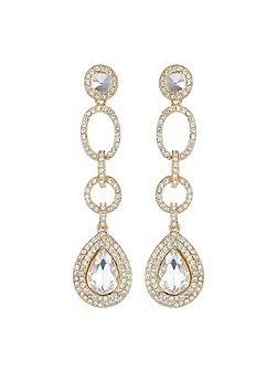 Multi link marquise stone drop earring