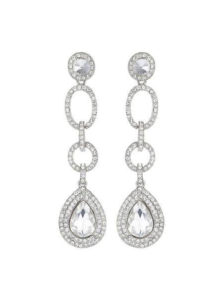 Mikey Multi link marquise stone drop earring