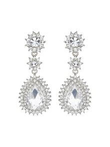 Marquise eclipse stone drop earring