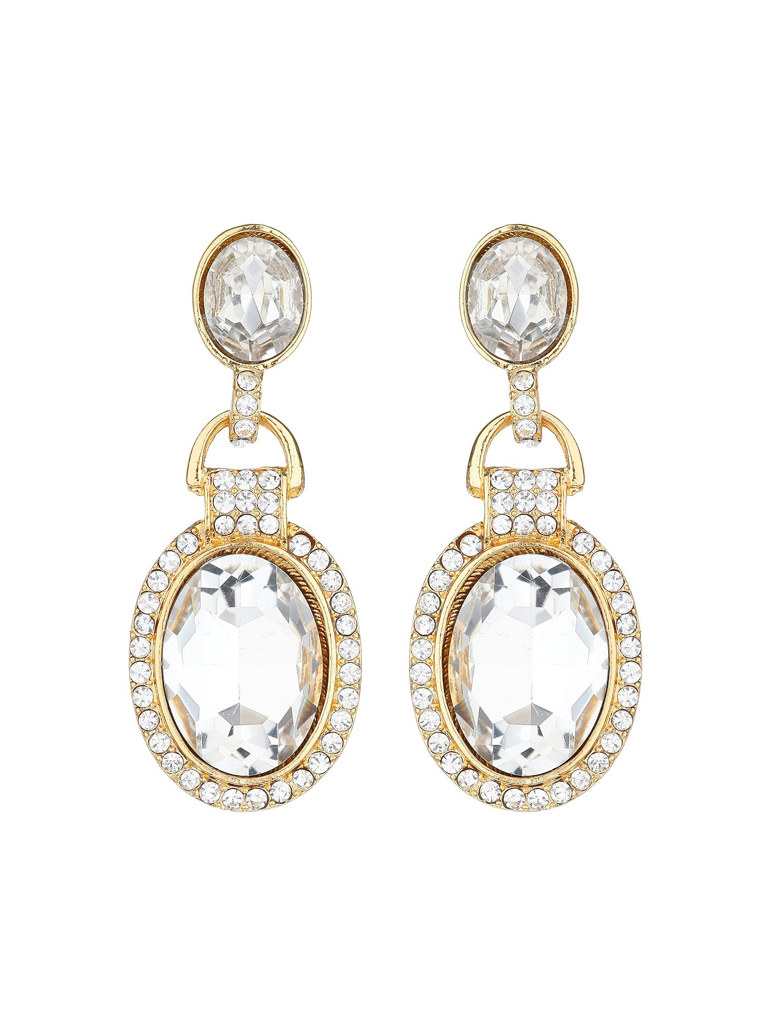 mikey oval marquise crystal stone earring