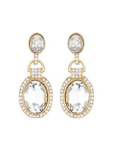 Oval marquise crystal stone earring