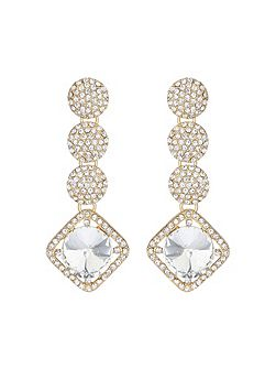 Multi round crystal drops earring