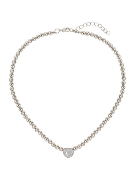 Mikey Studded crystal heart necklace