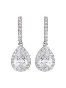 Mikey Oval Stone Drop Earring