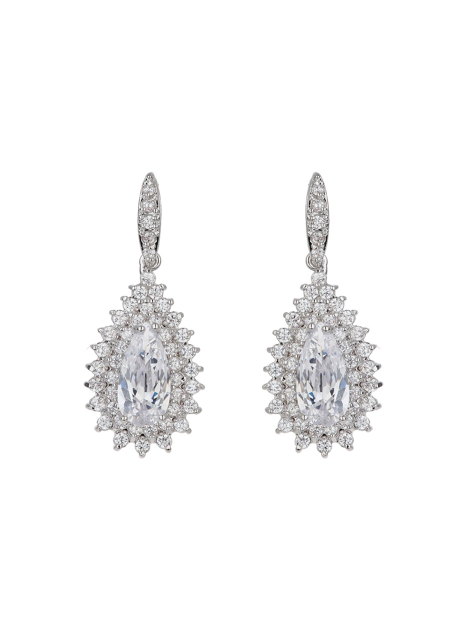 mikey oval stone marquise drop earring