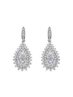 Oval Stone Marquise Drop Earring