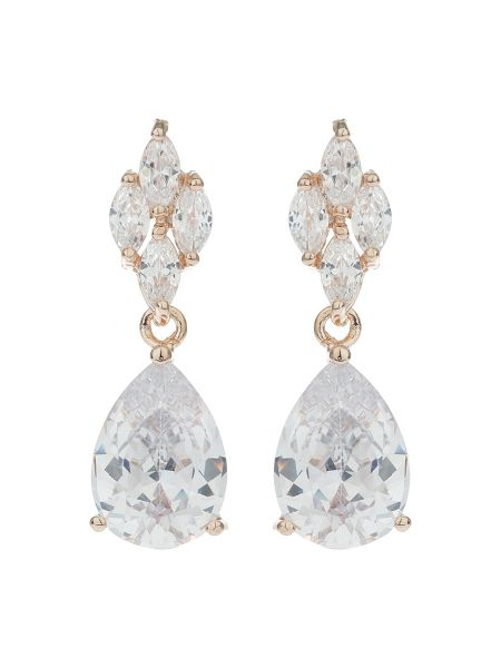 Mikey Leaf Oval Centre Drop Earring