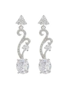 Mikey Twisted Drop Oblong Earring