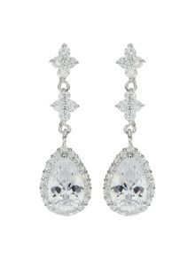 Mikey Oval Marquise Surround Drop Earring