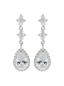 Oval Marquise Surround Drop Earring
