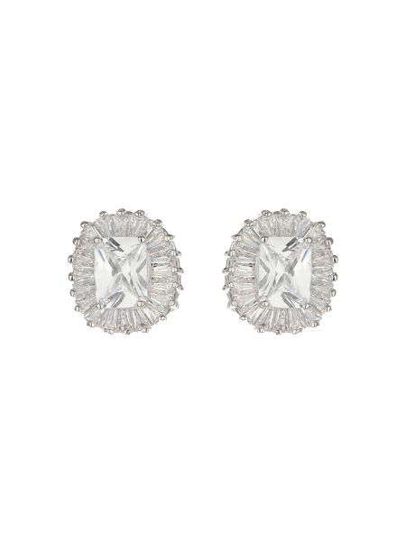Mikey Baugette Surround Centre Stone Earring
