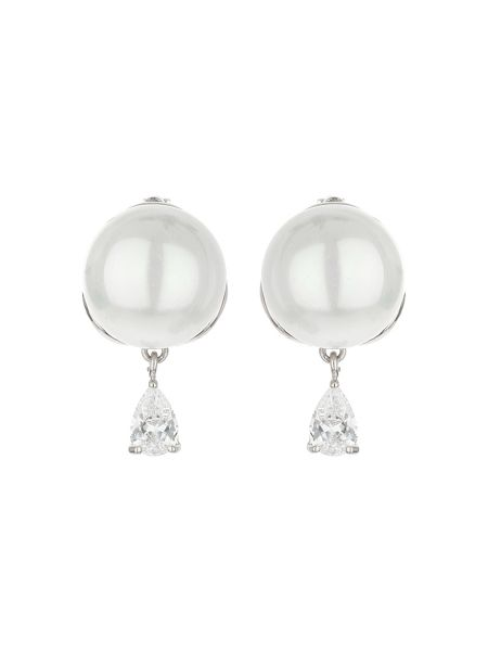 Mikey Pearl stud drop cubic earring