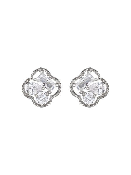 Mikey Square quad stones stud earring