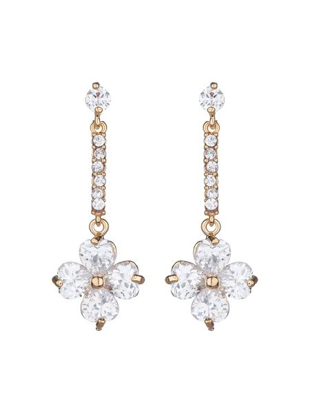 Mikey Daisy flower long drop earring