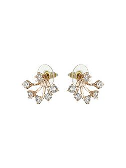 Spread design twin stud earring