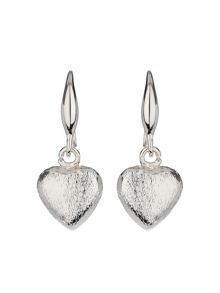 Mikey Plain heart hoop earring