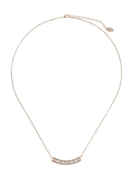 Mikey Baguette crescent pendant necklace