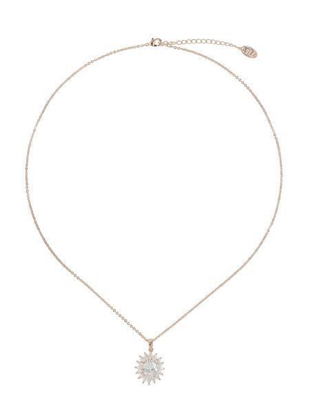 Mikey Flower cubic centre stone necklace