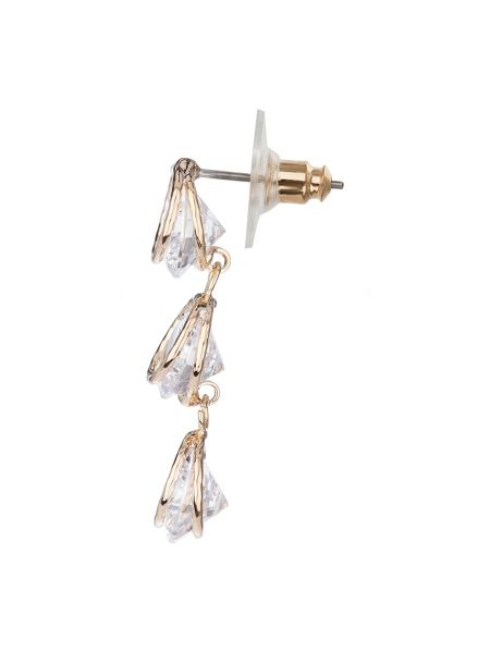 Mikey Triple hanging cubics earring
