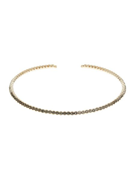 Mikey Crystal linked choker necklace