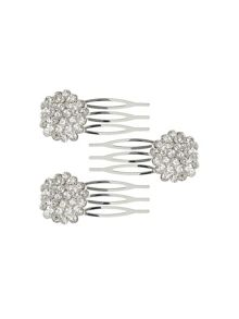 Mikey Cubic daisy flower hair slides