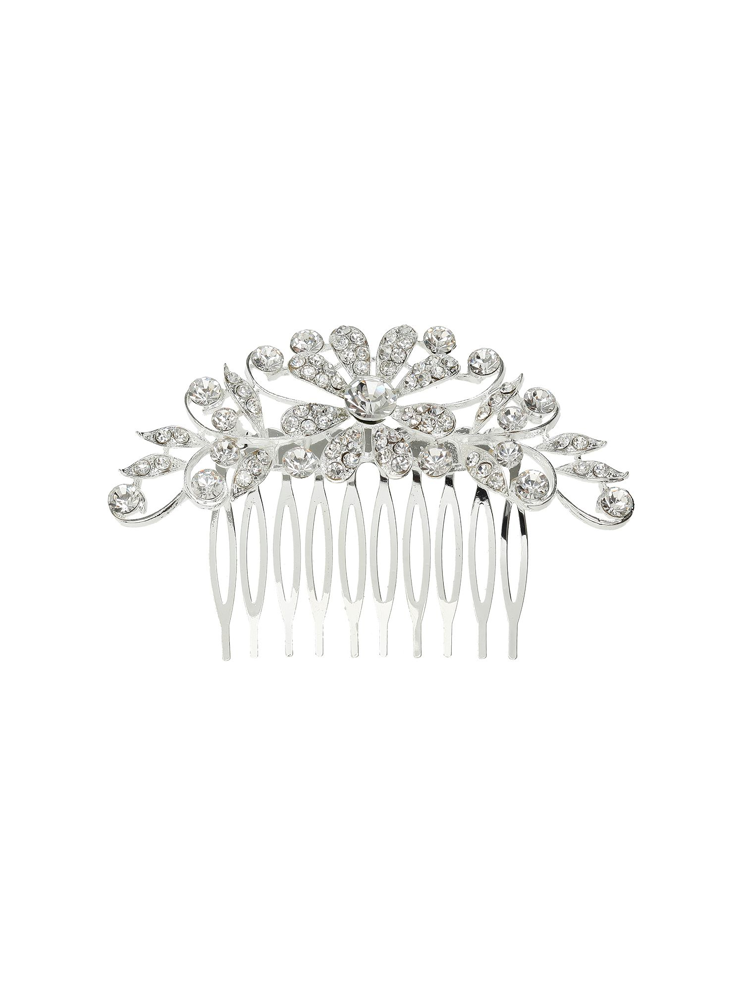 Mikey Cubic multi flowers spread hair comb White £19.80 AT vintagedancer.com