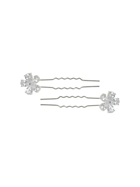 Mikey Large cubic flower hair pin