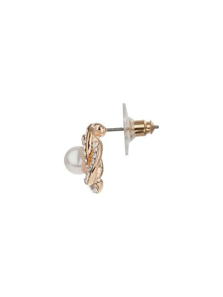 Mikey Multi spiral crystal pearl centre stud