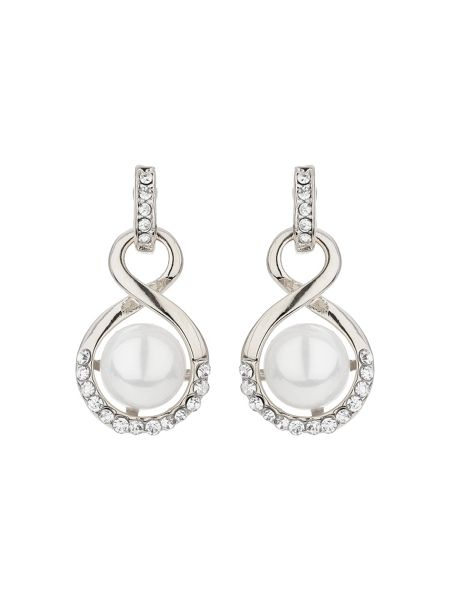 Mikey Drop twisted crystal pearl earring