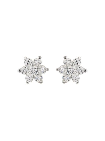 Mikey Silver 925 Pins Daisy Crystal Stud